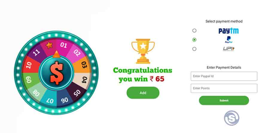 Spin and win Paytm cash
